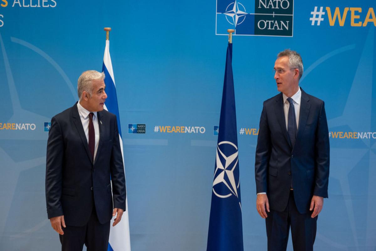 İsrailin XİN başçısı NATO baş katibi ilə görüşüb
