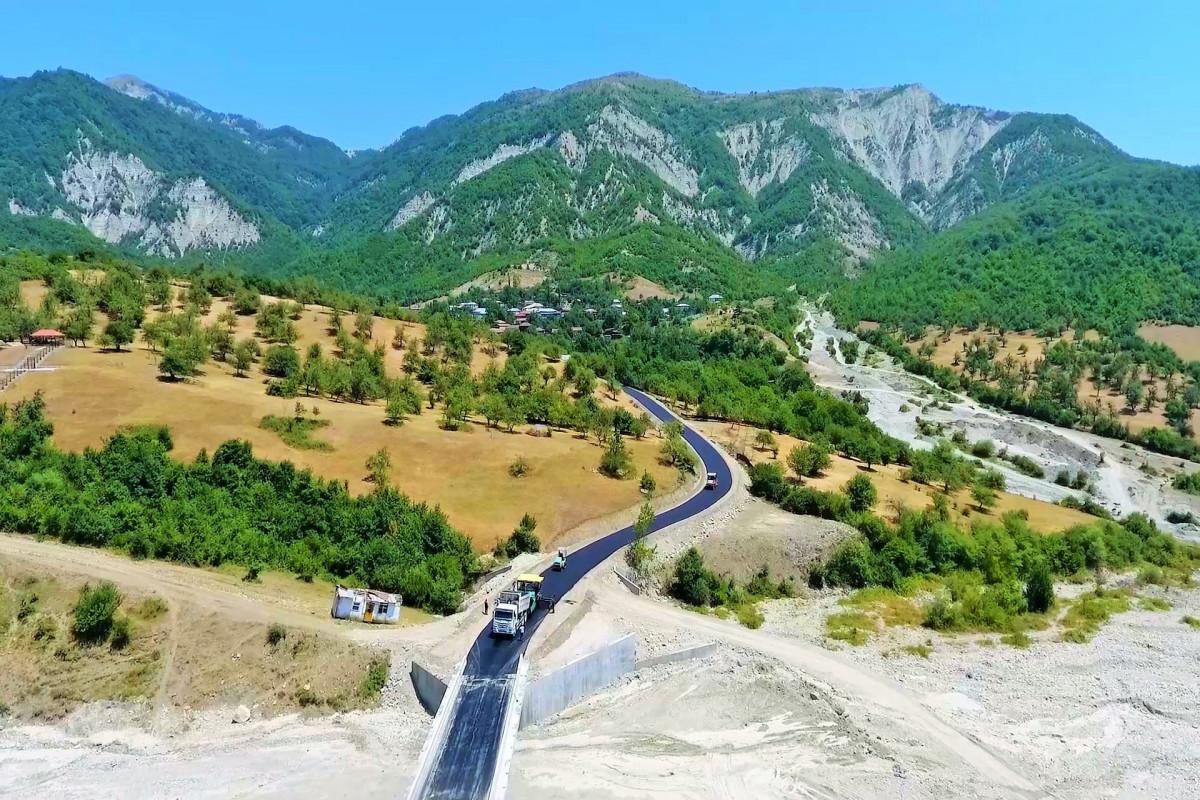 İsmayıllıda qədim tarixə malik kəndlərə aparan yollar yenidən qurulur - FOTO