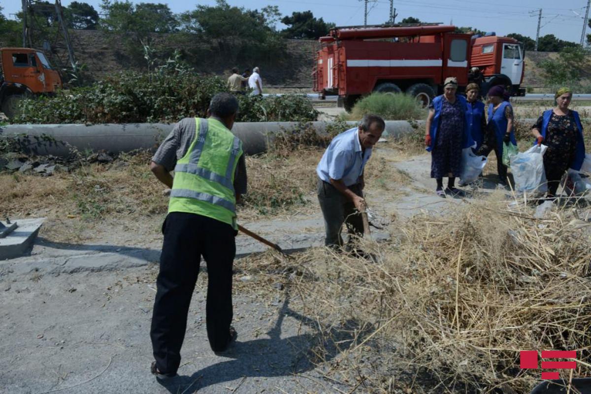 Проводится зачистка пожароопасных участков, через которые проходят коммуникации – ФОТО