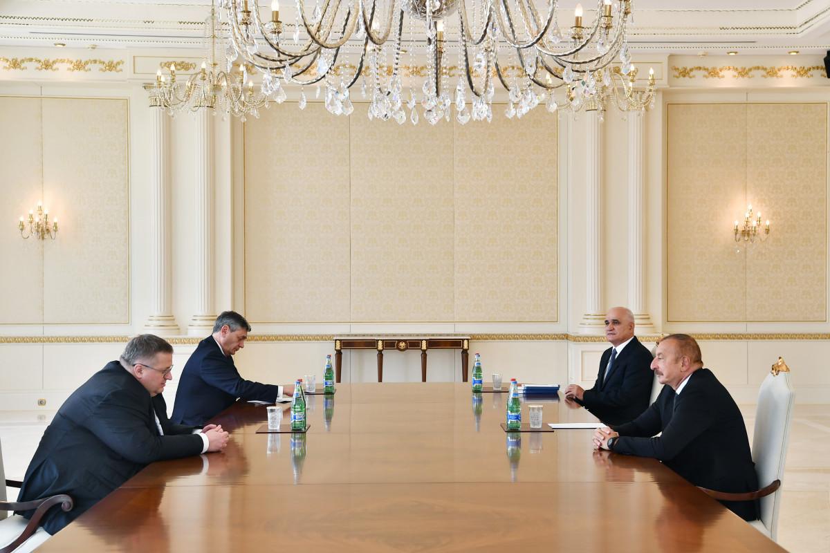 Prezident İlham Əliyev Rusiya Baş nazirinin müavinini qəbul edib - YENİLƏNİB  - VİDEO