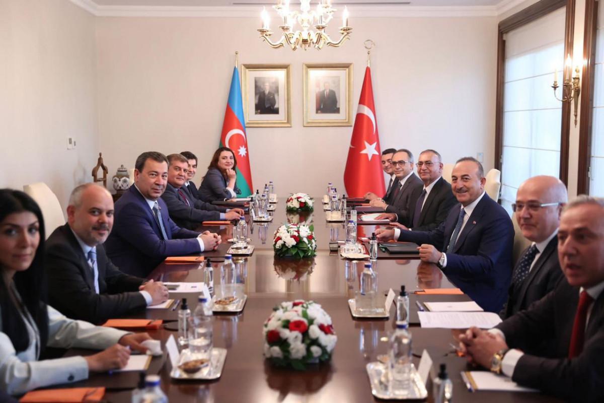 Глава МИД Турции принял делегацию Милли Меджлиса-ФОТО