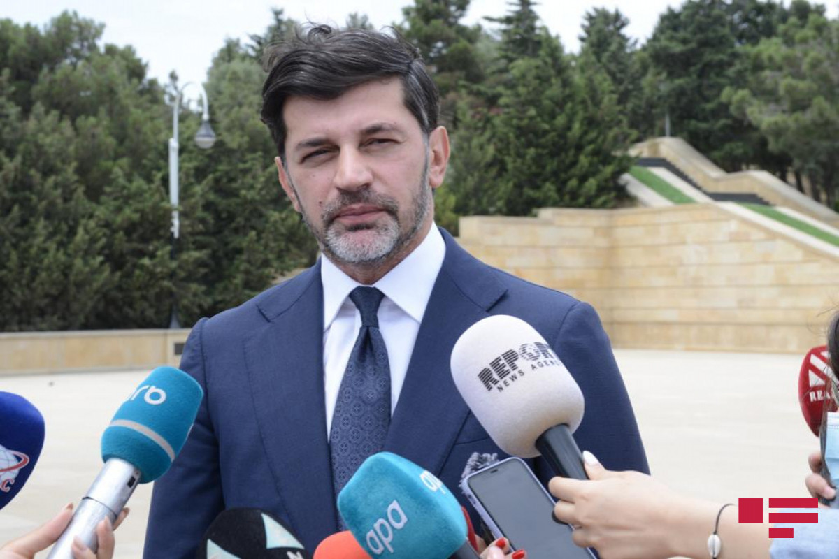 """Tbilisi mayor: """"Successful landscaping works are being carried out in Baku, which has complex landscape"""""""