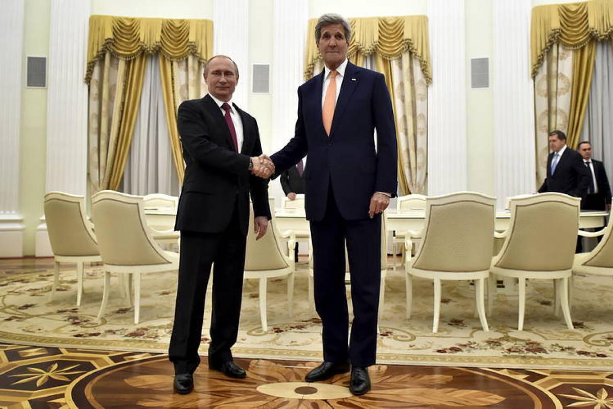 Vladimir Putin və Con Kerri arasında telefon danışığı olub
