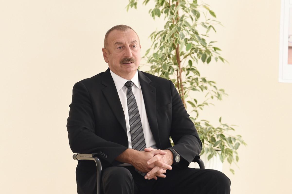 Президент Ильхам Алиев: Всего за два, два с половиной дня мы без оружия освободили Шушу