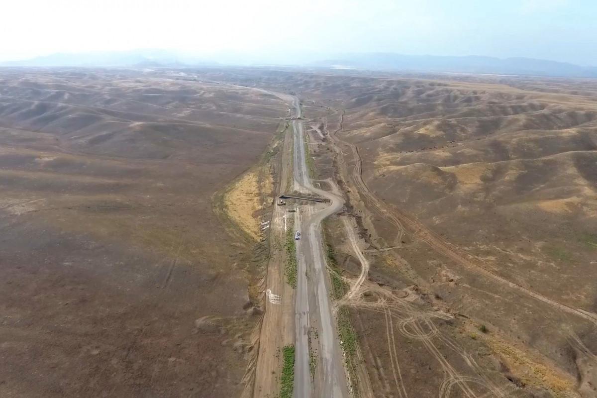 Строительство новой автомобильной дороги Шукюрбейли-Джабраил-Гадрут продолжается быстрыми темпами-ФОТО