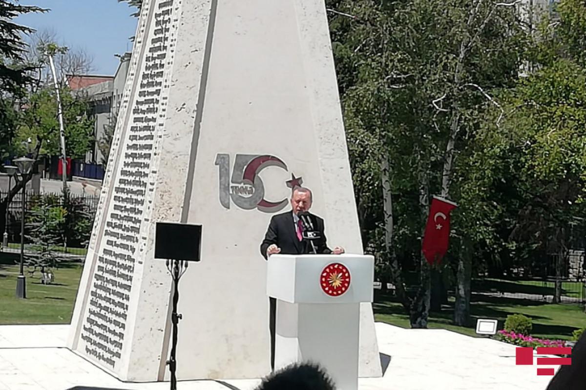 Эрдоган принял участие в церемонии открытия «Памятника 15 июля» в ВНСТ