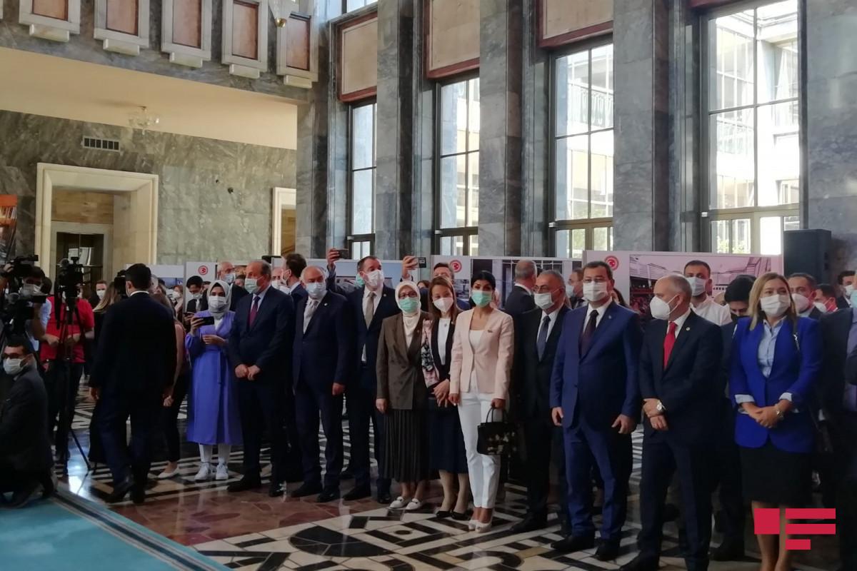 Mustafa Şentop azərbaycanlı deputatlara təşəkkür edib - FOTO