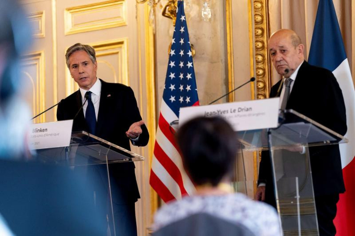 French FM, US Secretary of State discuss Nagorno Karabakh conflict settlement in Washington D.C.