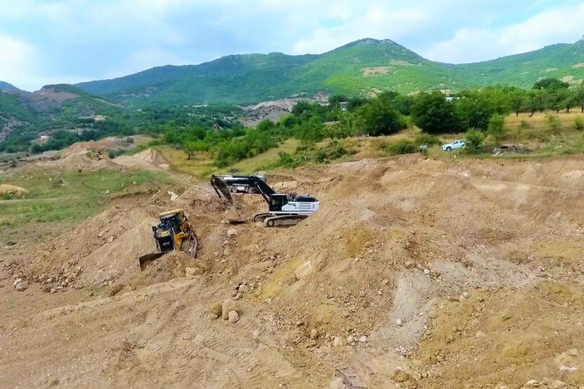 Construction of tunnels on Ahmadbeyli-Fuzuli-Shusha highway begun-PHOTO