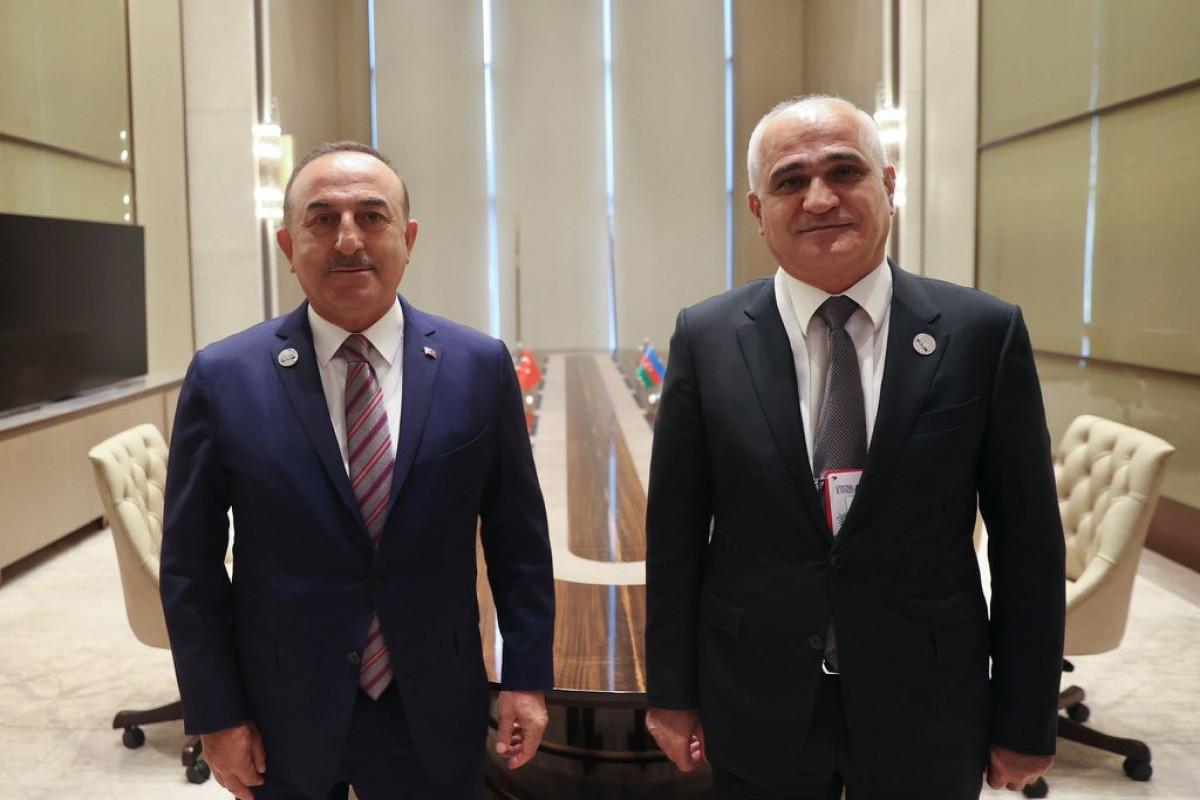 Глава МИД Турции встретился с Шахином Мустафаевым