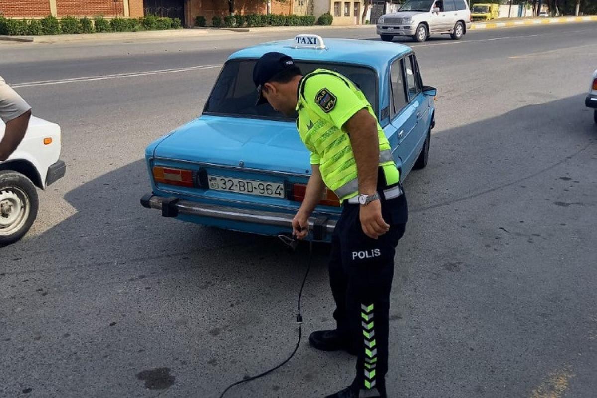 """Kürdəmirdə ixrac qazları normadan artıq olan avtomobillərə qarşı reyd keçirilib - <span class=""""red_color"""">FOTO"""