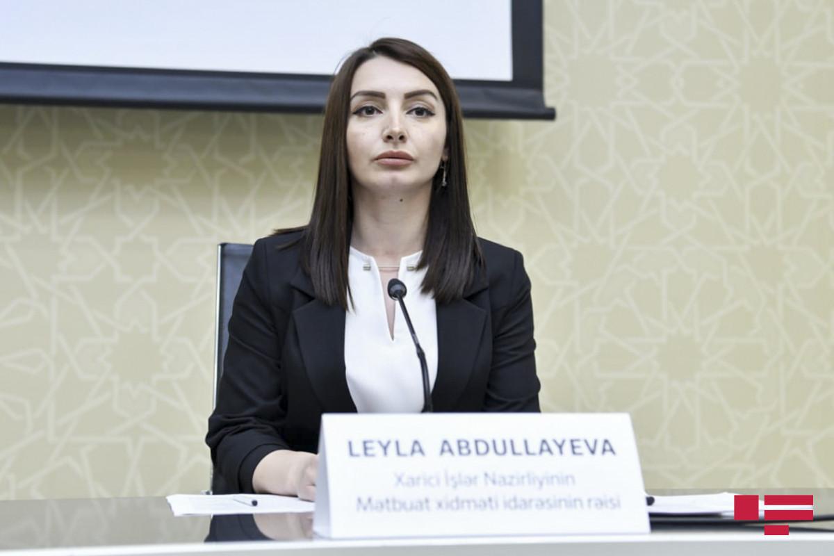 """Leyla Abdullayeva: """"Azərbaycanın bu günədək heç bir dövlətə qarşı ərazi iddiası olmayıb"""""""