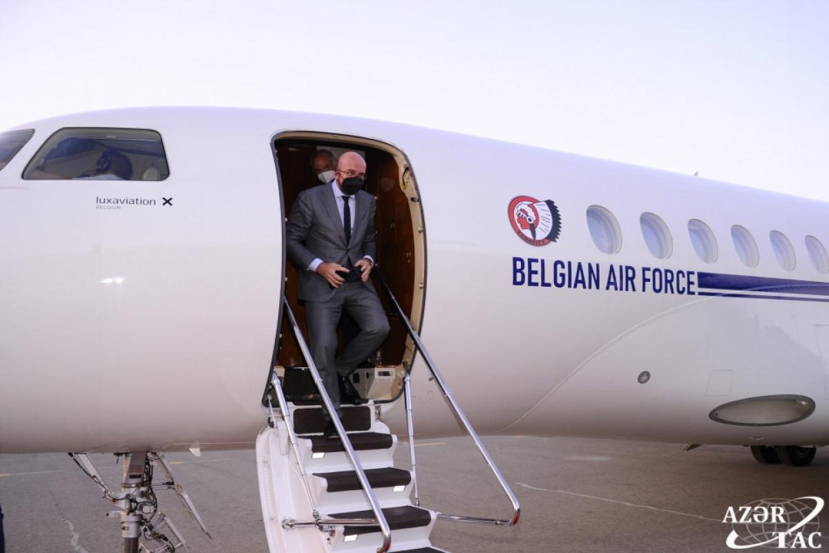 EC President Charles Michel arrives in Azerbaijan on a working visit