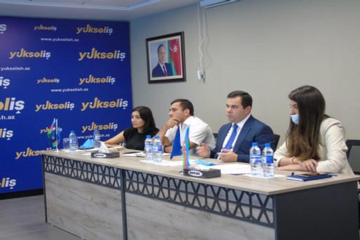 Рабочая группа конкурса Yüksəliş провела встречу с победителями конкурса-ФОТО