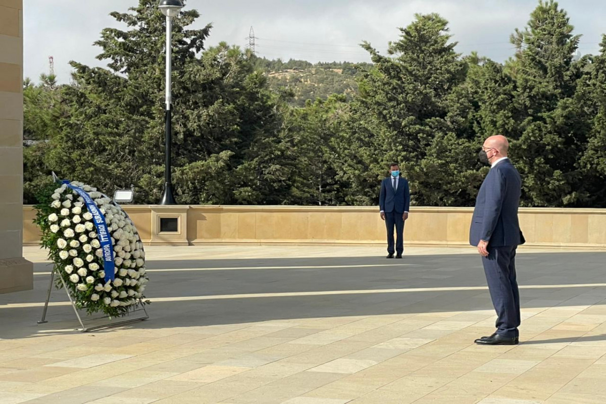President of the EU Council visited the Alley of Martyrs