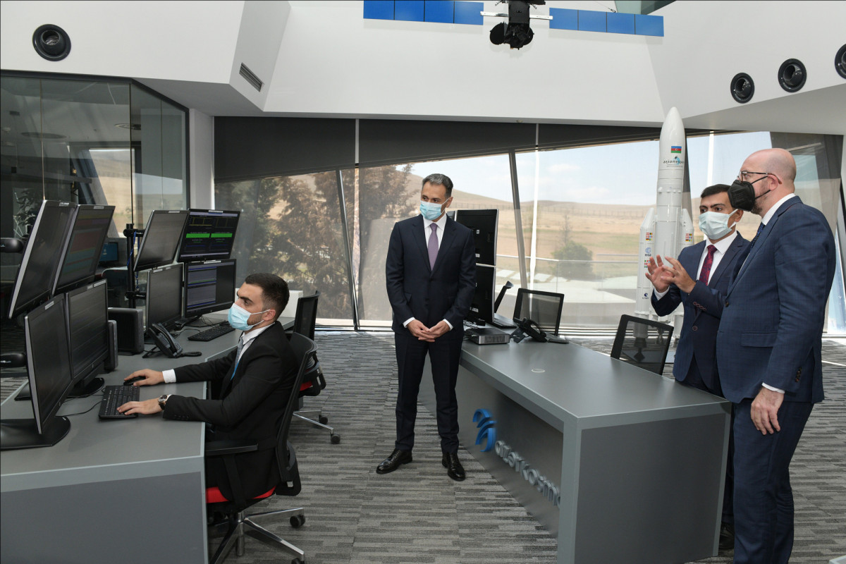 President of European Council Charles Michel visits Azercosmos Main Satellite Ground Control Center
