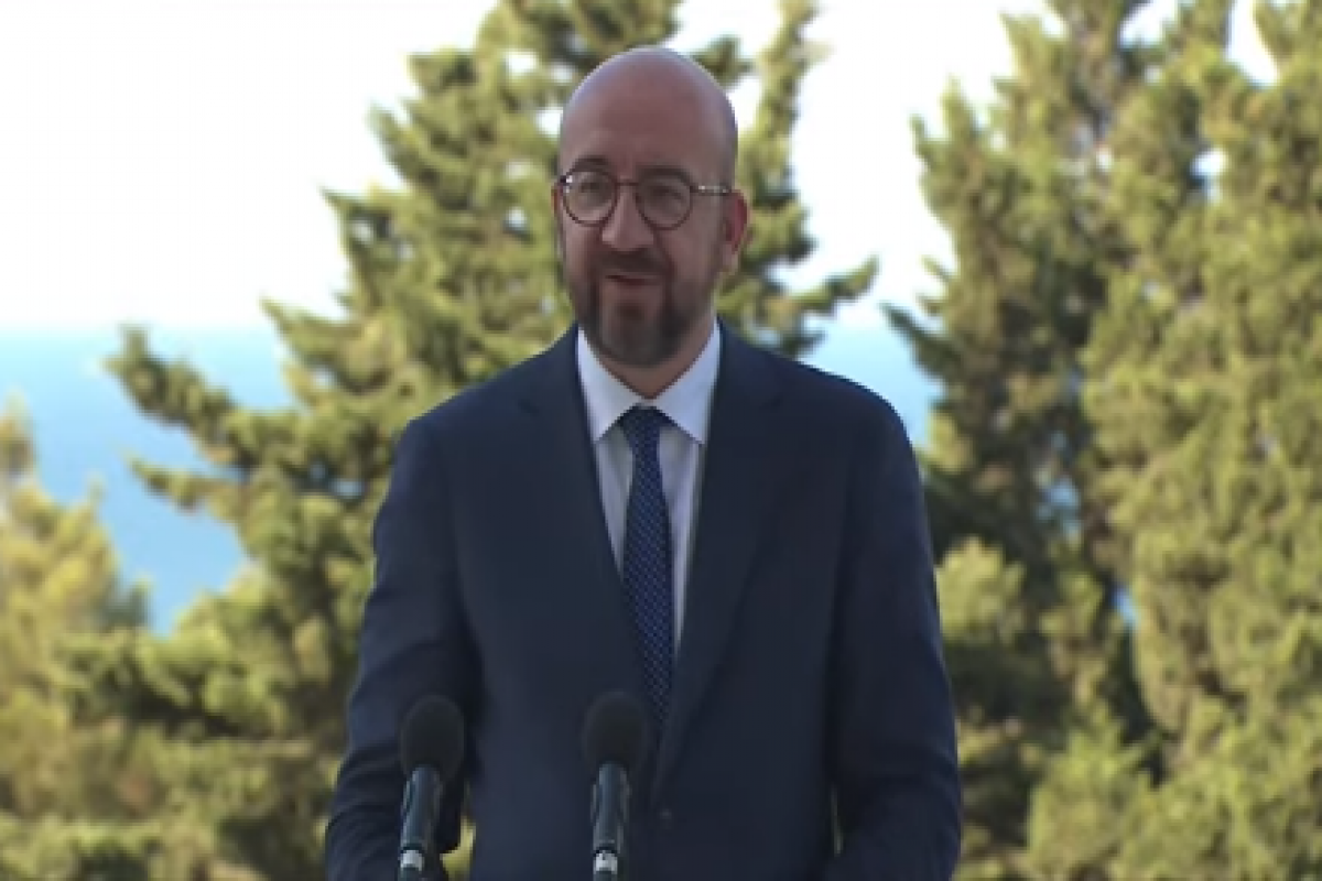 """Charles Michel: """"EU is ready to play a positive role in achieving peace in the region"""""""