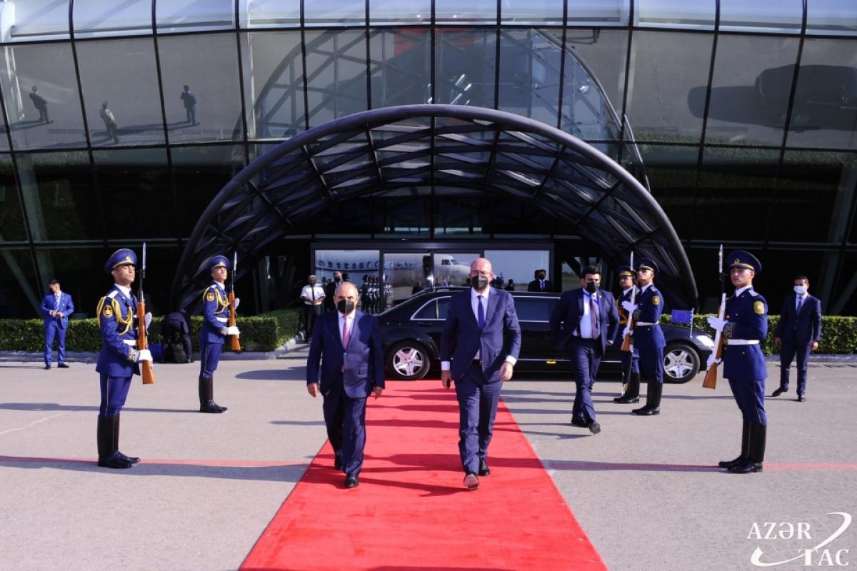 President of European Council Charles Michel ends Azerbaijan visit