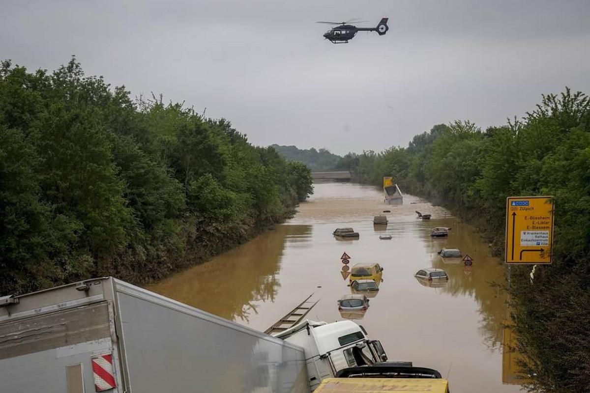 Разлив нефти произошел на западе Германии в результате наводнения
