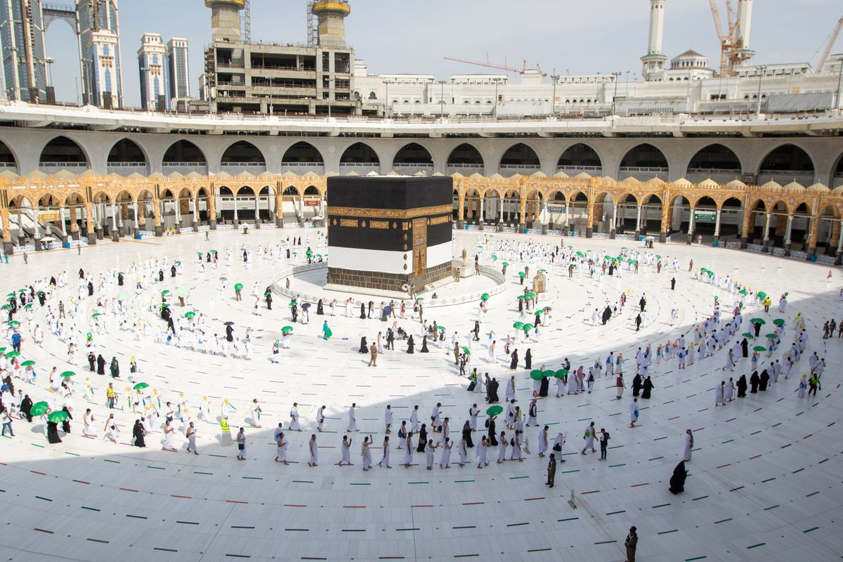 Immunised pilgrims gather for haj as COVID restrictions limit numbers