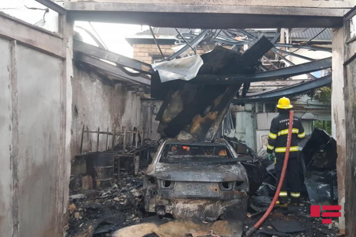 В результате пожара в Уджаре сгорели два автомобиля-ФОТО -ВИДЕО