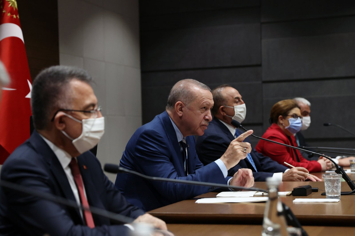 """""""Taliban"""" has to stop occupation in Afghanistan, Erdogan says"""