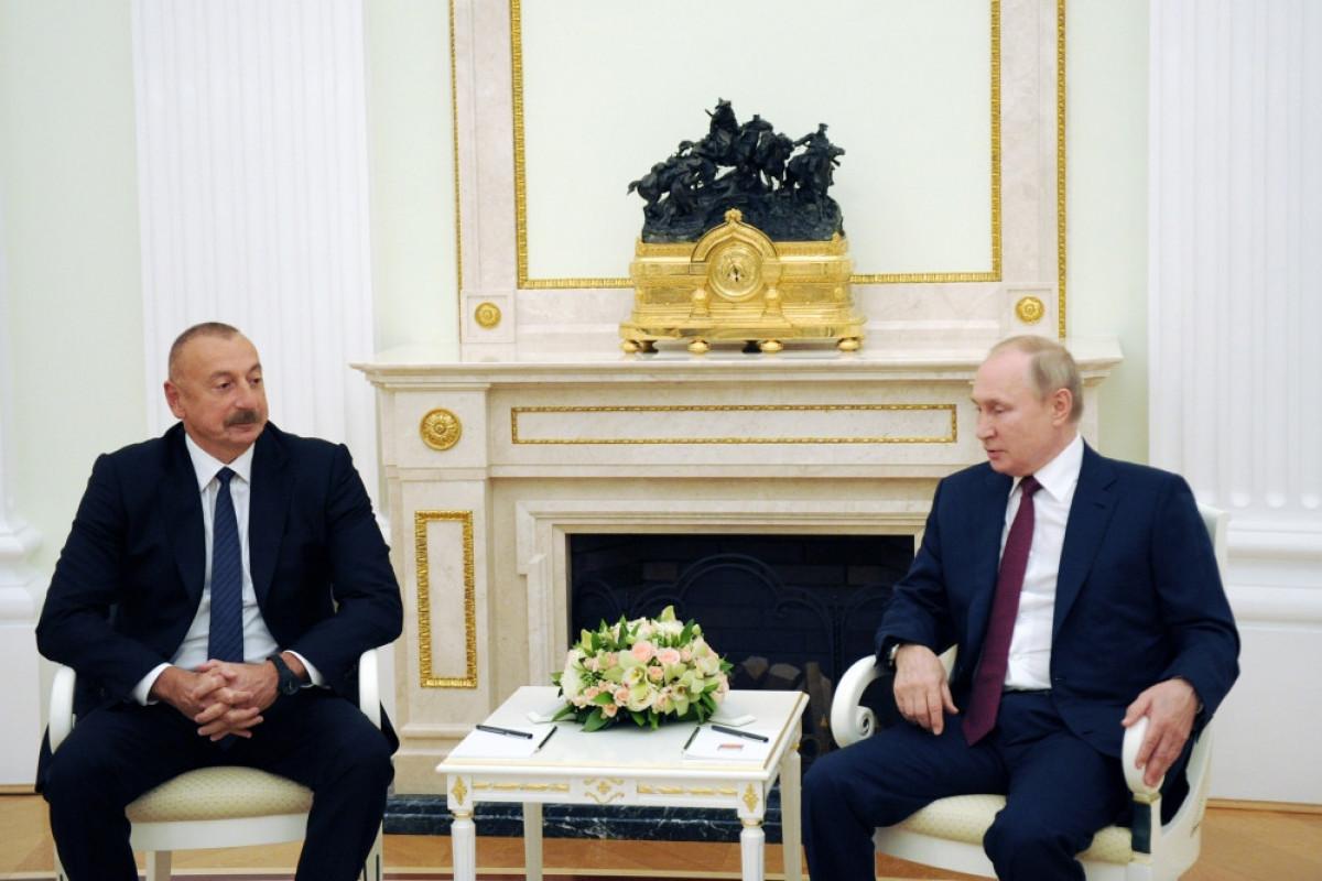 Президент России выразил благодарность президенту Азербайджана за усилия в урегулировании ситуации в регионе-ВИДЕО