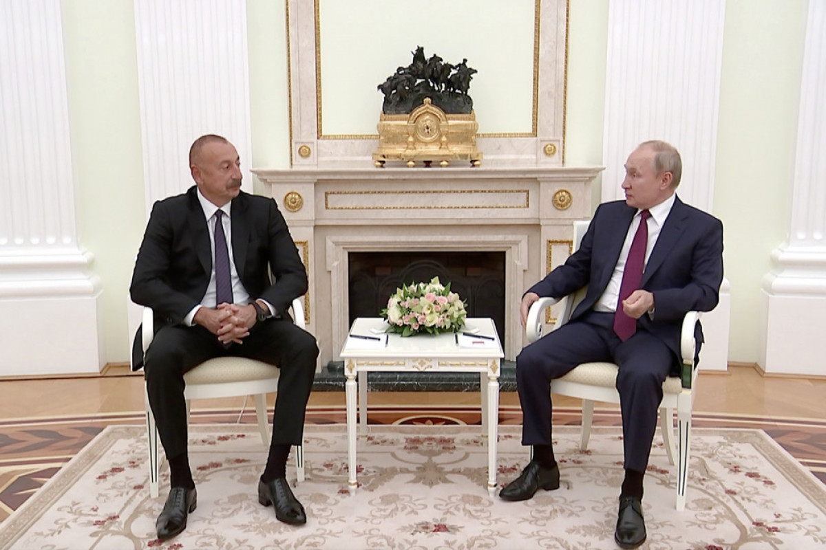The Russian President thanked the Azerbaijani President for his efforts to resolve the situation in the region