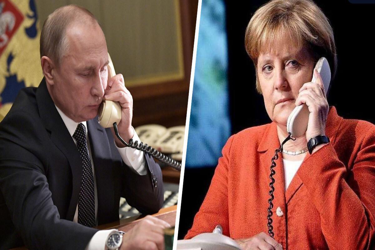 """Merkel Putinlə """"Şimal Axını 2"""" boru kəmərini müzakirə edib"""