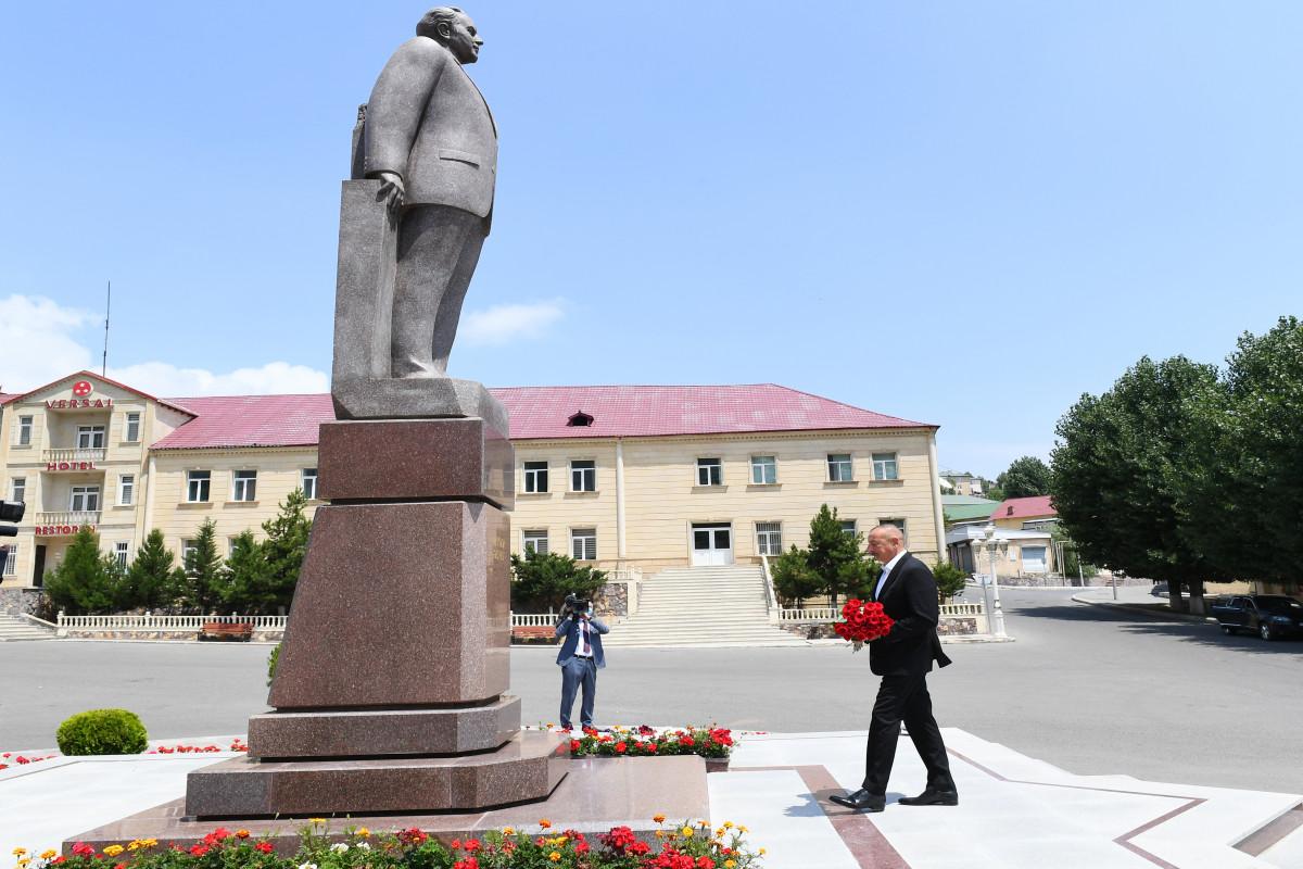 Prezident İlham Əliyev Daşkəsənə səfərə gedib