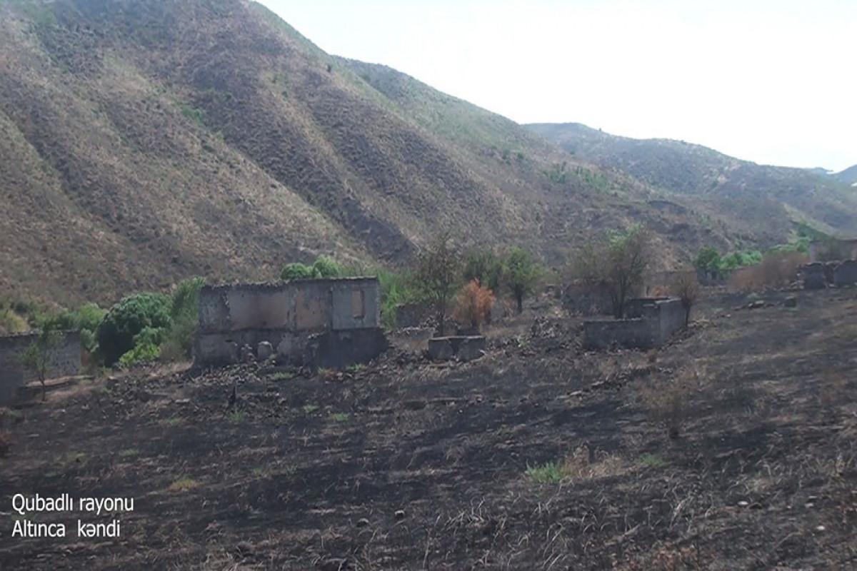 Azerbaijani MoD releases video footage of the Altinja village of the Gubadli region