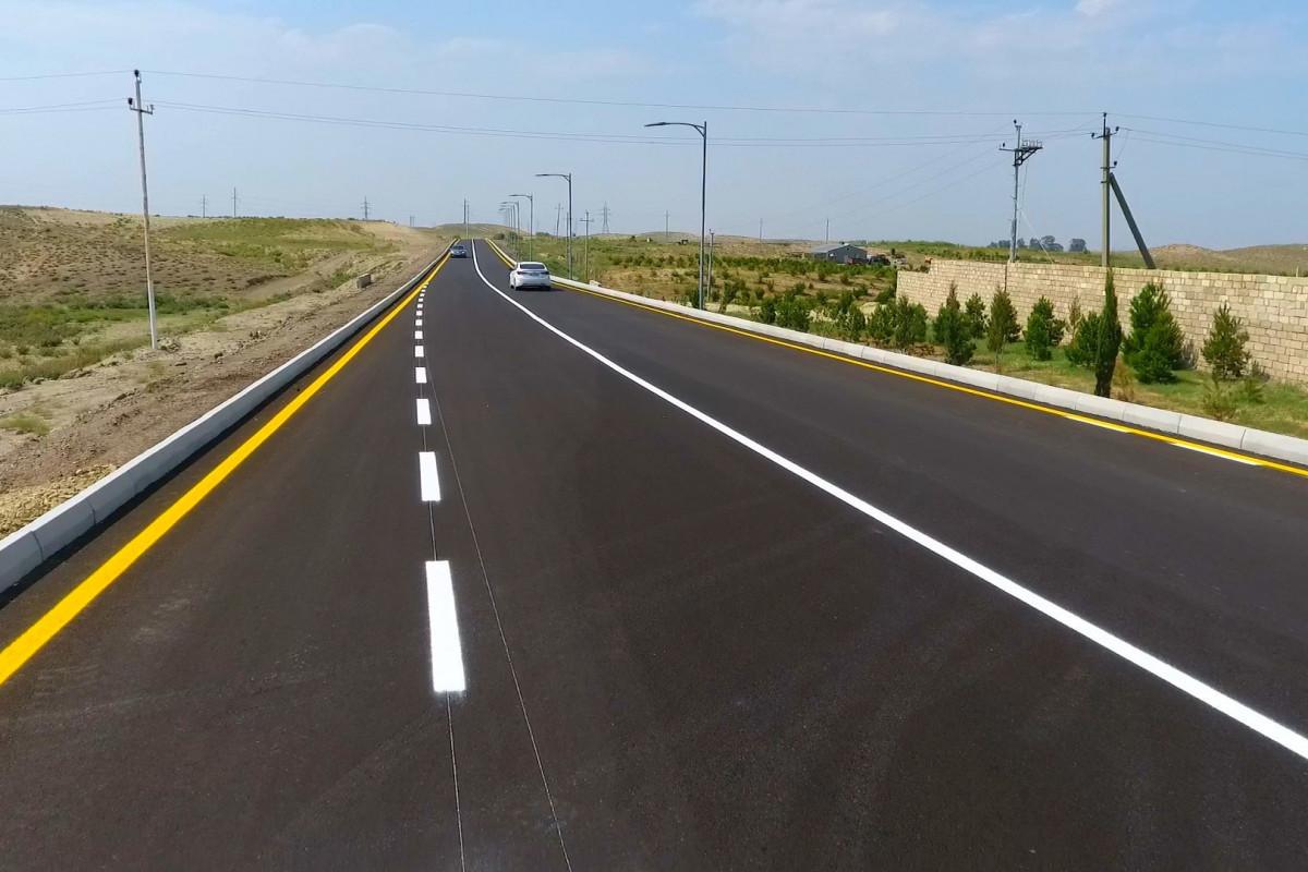 President Ilham Aliyev inaugurated Alirzali-Khan Garvand-Safikurd-Tapgaragoyunlu highway in Goranboy