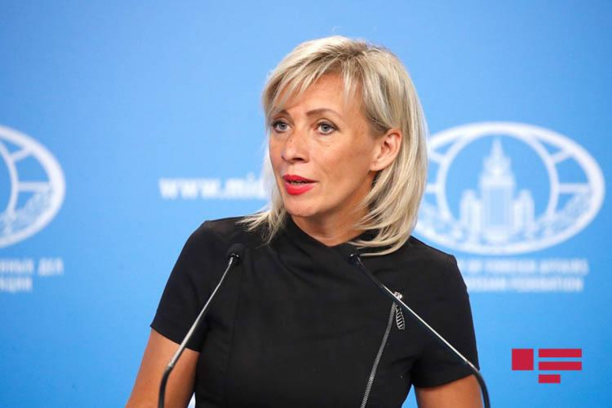 """Zakharova: """"We hope that the Trilateral Working Group on Karabakh will resume its activities in the near future"""""""