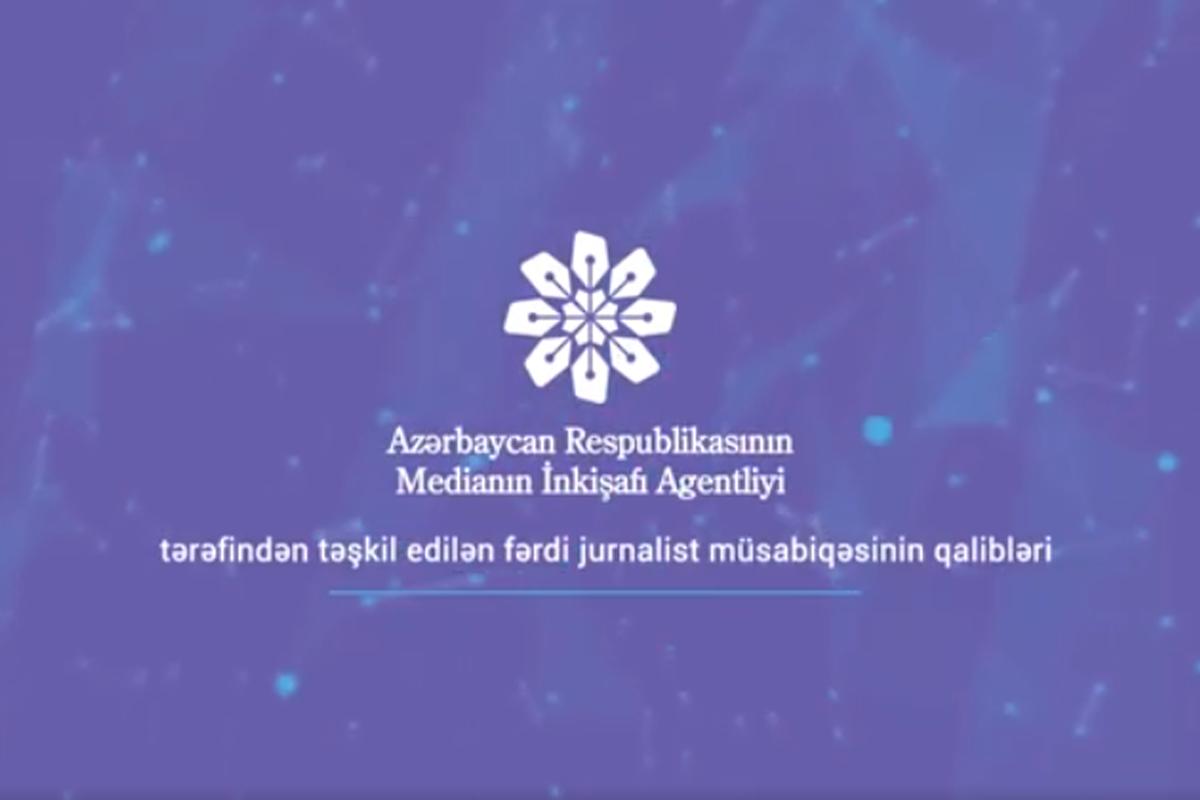 Fərdi jurnalist müsabiqəsinin qalibləri açıqlanıb