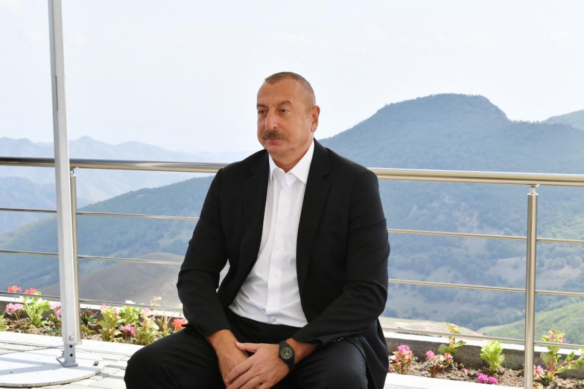 """Prezident İlham Əliyev: """"Bizim Zəfərimiz Ermənistanın bütün ideoloji sütunlarını darmadağın edib"""""""