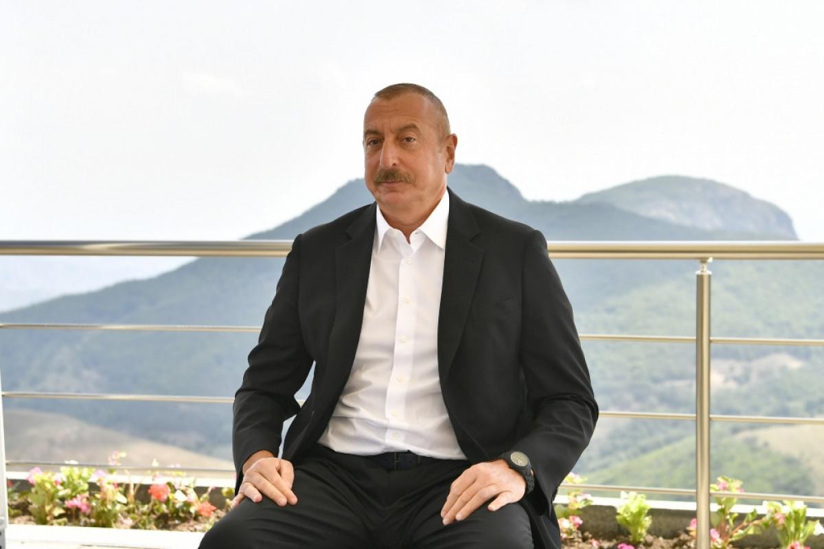 """Prezident: """"Şarl Mişelin status, Dağlıq Qarabağ sözlərini işlətməməsi çox müdrik bir addım idi"""""""