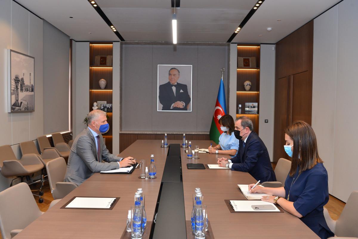 Джейхун Байрамов встретился с представителем ЕС в Азербайджане-ФОТО