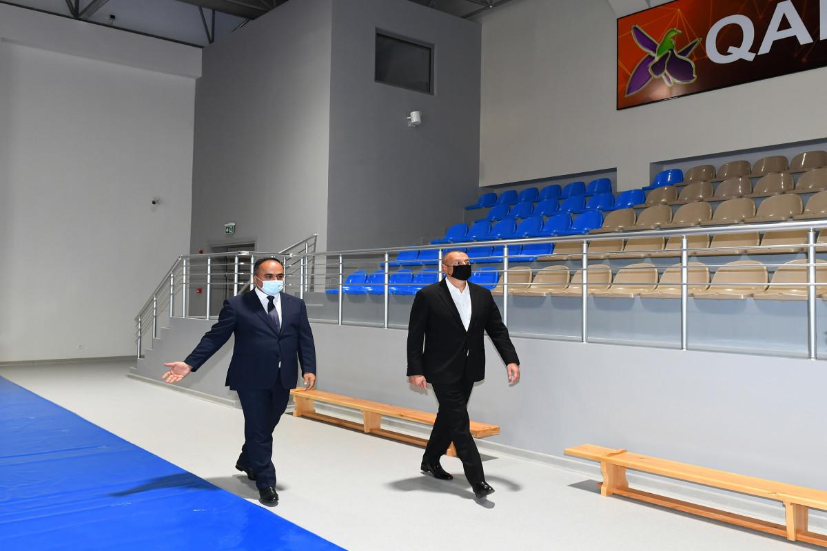"""Goranboy Olimpiya İdman Kompleksinin açılışı olub - <span class=""""red_color"""">YENİLƏNİB"""