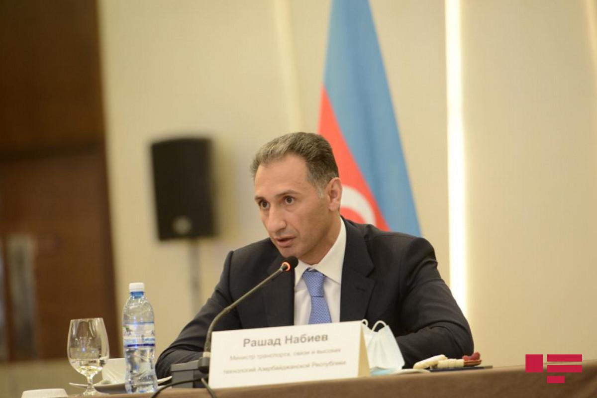 Министр: Азербайджан и Россия тесно сотрудничают в организации международных транспортных коридоров