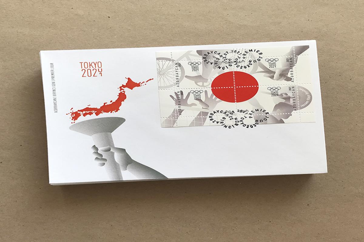 """Tokio Olimpiadasına həsr edilmiş poçt markaları bloku dövriyyəyə buraxılıb - <span class=""""red_color"""">FOTO"""