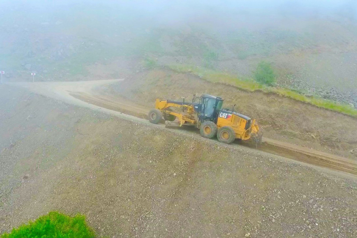 Large-scale construction of Toganali-Kalbajar-Istisu highway begun