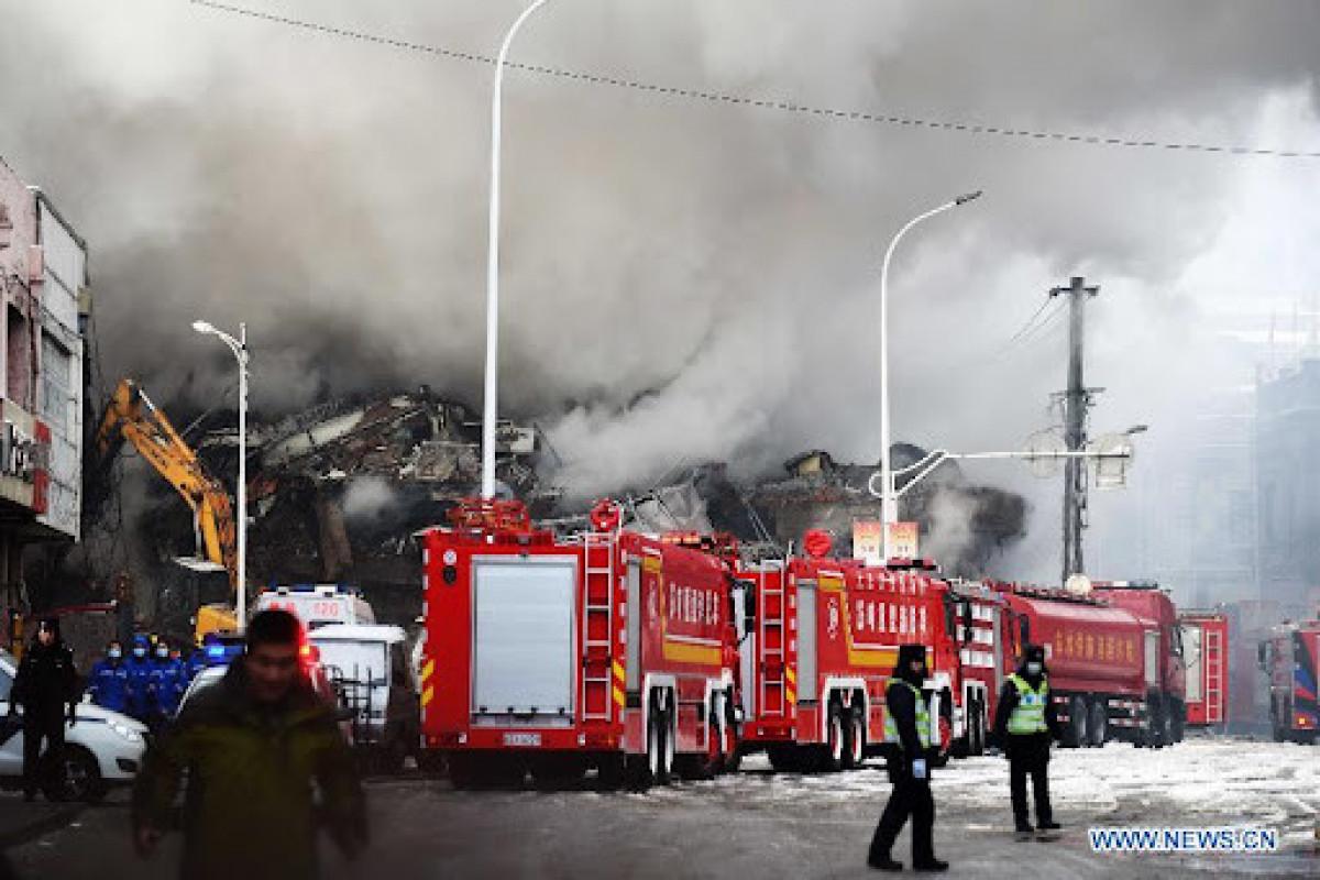 Çində anbarda baş verən yanğın nəticəsində 14 nəfər ölüb