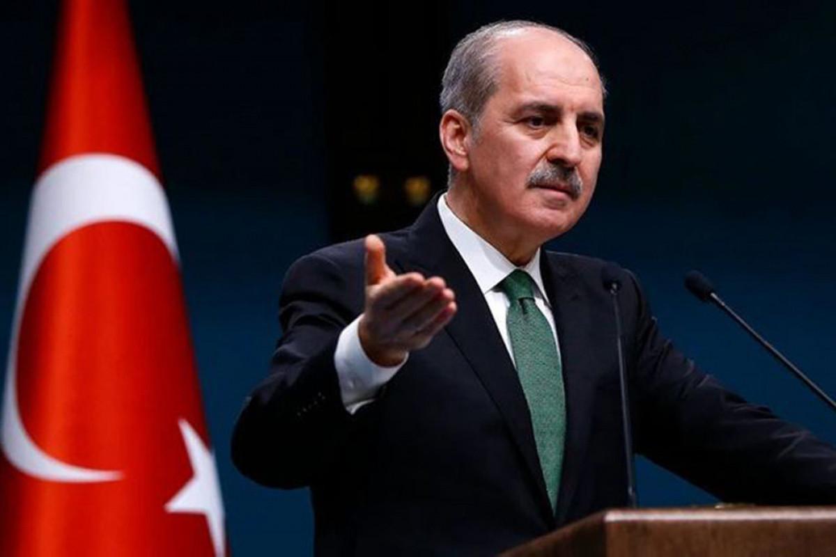 AKP-nin katibi Numan Kurtulmuş partiyanın heyətilə Bakıda səfərdədir