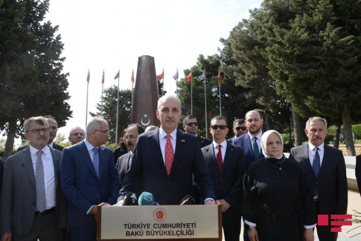 """Numan Kurtulmuş: """"Ermənistan kənar ölkələrdən, diaspordan mədət ummaq siyasətindən əl çəkməlidir"""""""