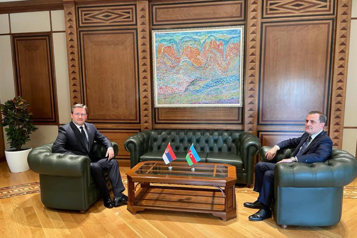 Ceyhun Bayramovla Serbiya xarici işlər naziri arasında görüşü keçirilir