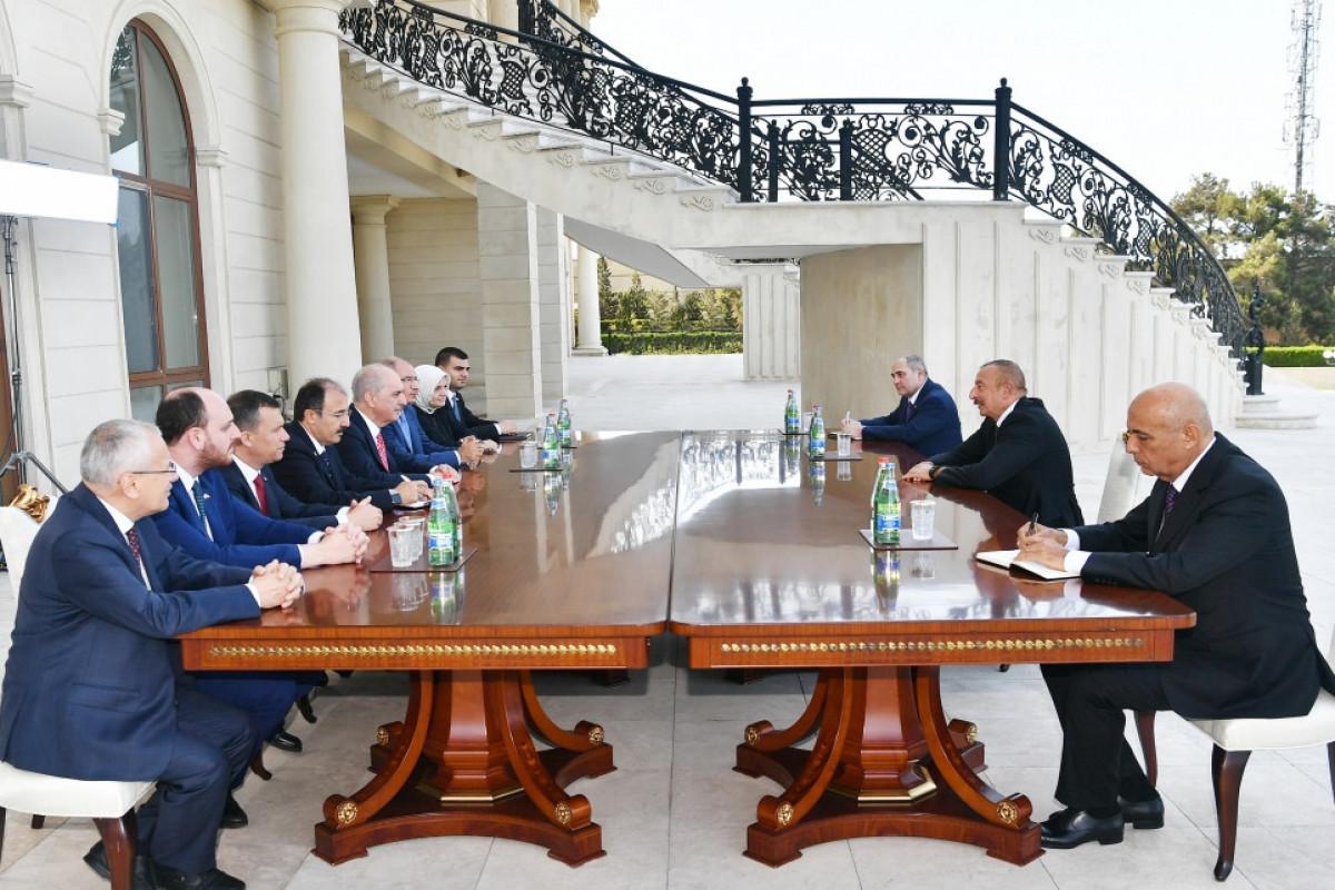 Президент Ильхам Алиев принял первого заместителя председателя Партии справедливости и развития Турции-ВИДЕО -ОБНОВЛЕНО