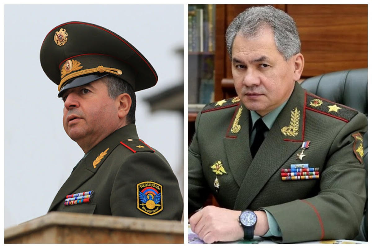 Sergey Shoygu and Armenian acting defence minister hold phone conversation