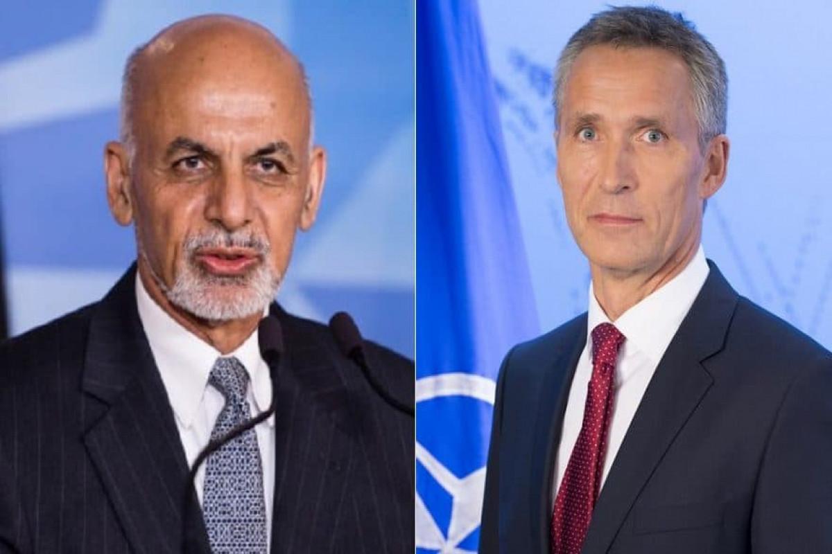 NATO Baş katibi və Əfqanıstan Prezidenti arasında telefon danışığı olub