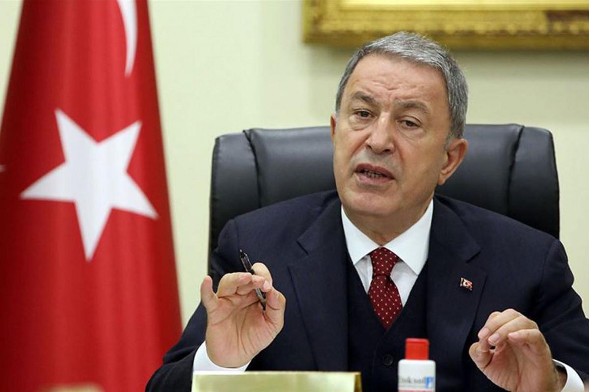 """Hulusi Akar: """"Yunanıstanın 3-5 istifadə olunmuş silahla güclənməsi mümkün deyil"""""""