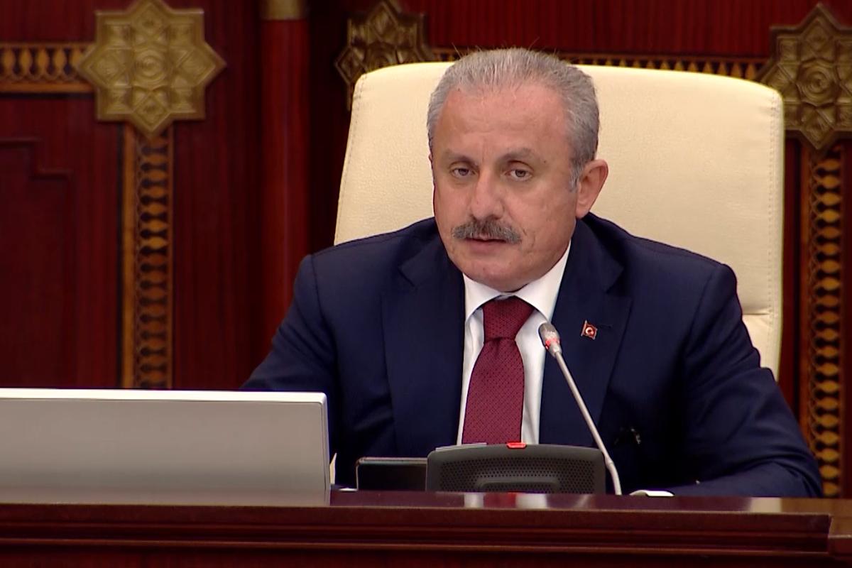 """Mustafa Şentop: """"Ölkələrimiz və bölgəmizə təhdidləri dəf etmədən inkişaf mümkün deyil"""""""